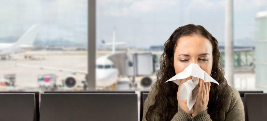Imagem do post Você sabia que viajar de avião é um risco para transmissão da gripe?