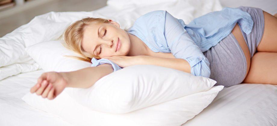 As posições para a gestante dormir