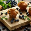 Receita sem lactose: muffins de blueberry